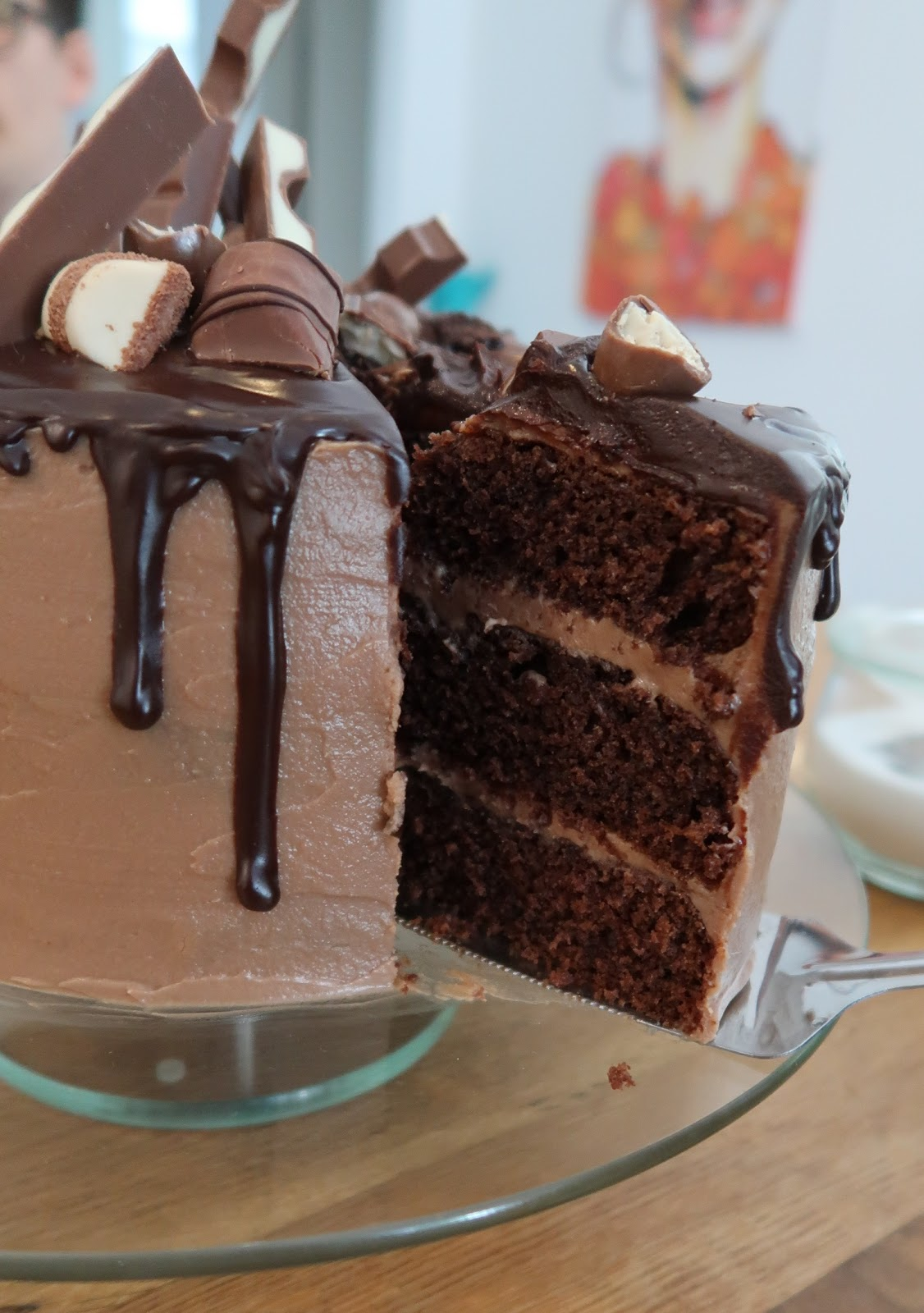 Food Meets Books Rezept Kinderschokoladen Torte