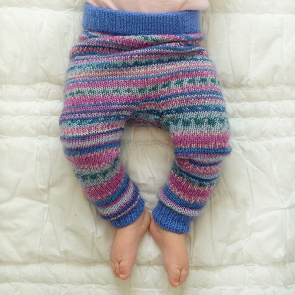 cozy birdhouse | faux fair isle baby leggings