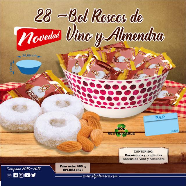 Bol Roscos de Vino y Almendra El Patriarca 400 g - Comercial H. Martín sa