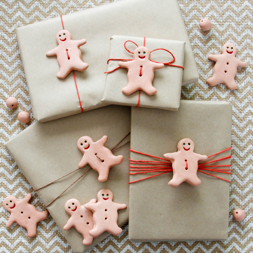 naturally scented air dry clay gingerbread christmas decorations