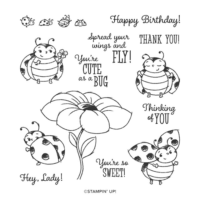 Craftyduckydoodah!, Little Ladybug, Susan Simpson UK Independent Stampin' Up! Demonstrator, Supplies available 24/7 from my online store, Stamp 'N Hop March 2020,