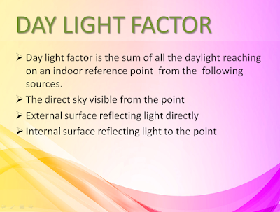 DAY LIGHT FACTOR, LIGHTING BUILDING SERVICE