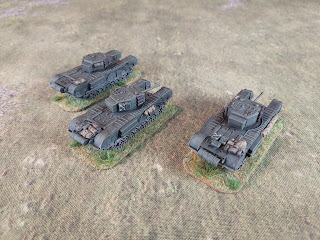 Three 15mm Battlefront Churchills