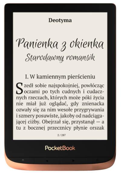 PocketBook Touch HD 3 z tyłem obudowy w kolorze miedzianym
