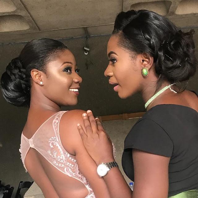 Ghanaian Actress and movie producer Salma Mumin (Left) And Martha Ankomah (Right)