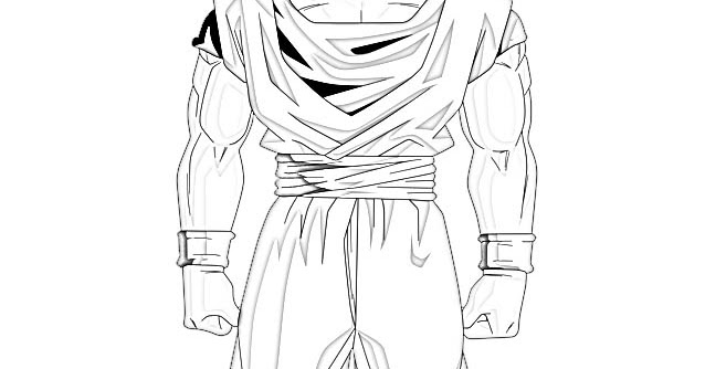 Pin Goku Para Colorear Dibujos Infantiles Son Dragon