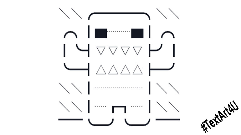 domo kun character unicode text art copy paste code