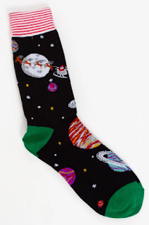 Space Santa socks by Legale