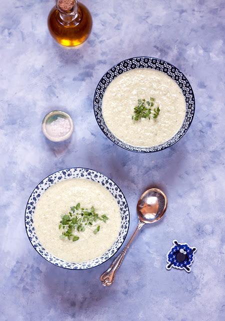 Zupa brokułowa z wędzonym łupaczem