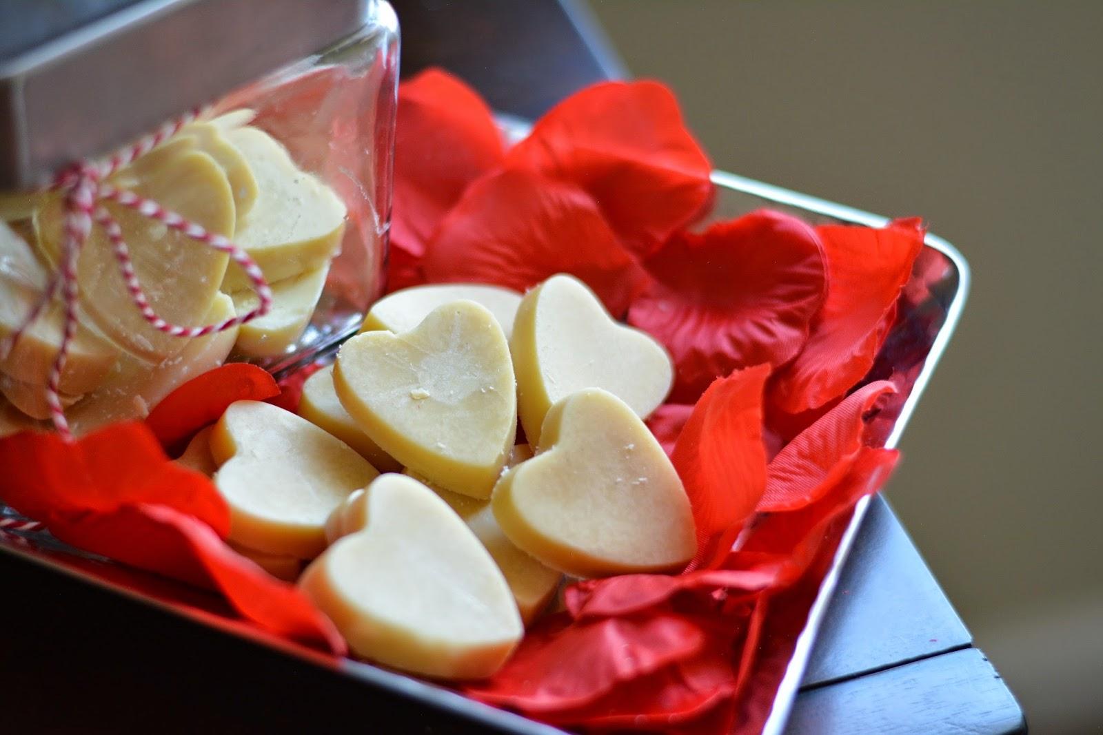 Valentine's Day diy cocoa butter massage bars