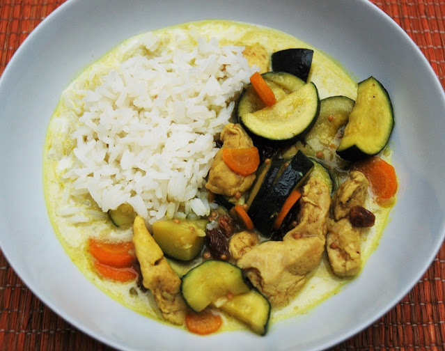 Curry courgettes poulet