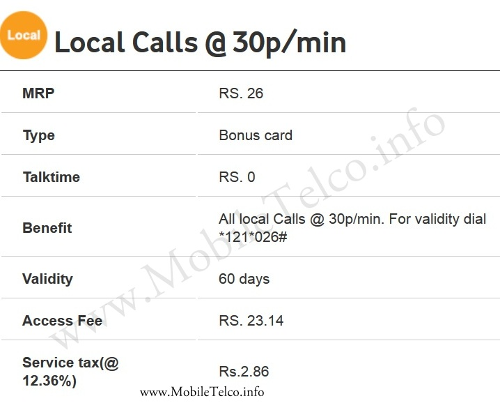 Vodafone-Local-Calls-plan-Delhi-NCR