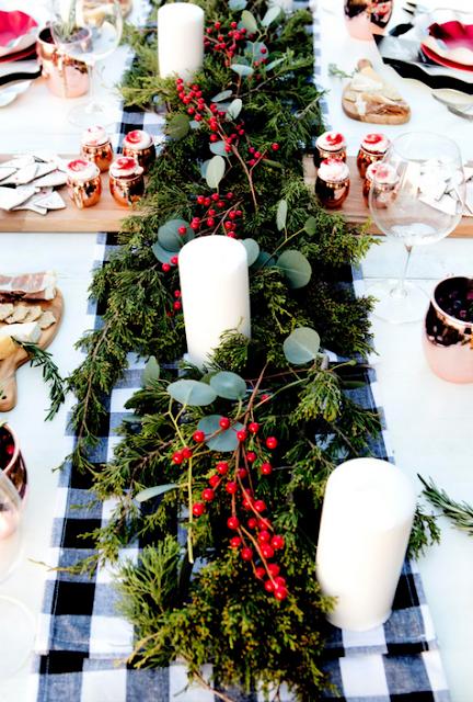 Mesa navide a de estilo campestre - Caminos de mesa ikea ...