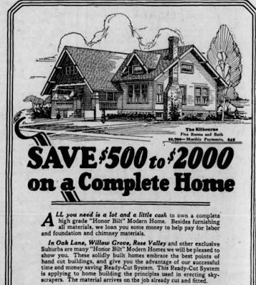 1926 newspaper Sears ad Philadelphia Inquirer