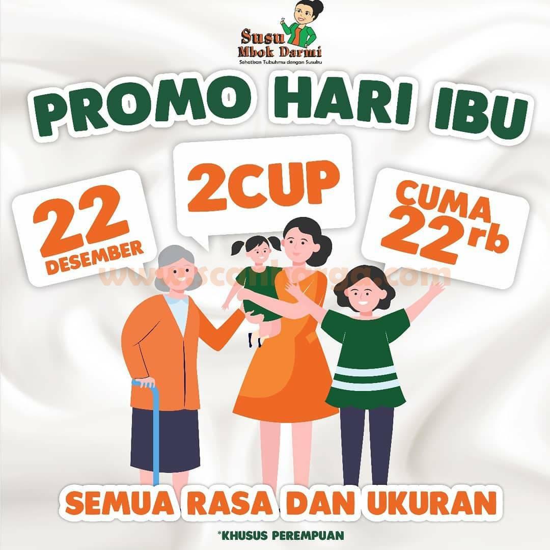 Susu Mbok Darmi Promo Spesial HARI IBU 2 Cup Hanya Rp 22 Ribu
