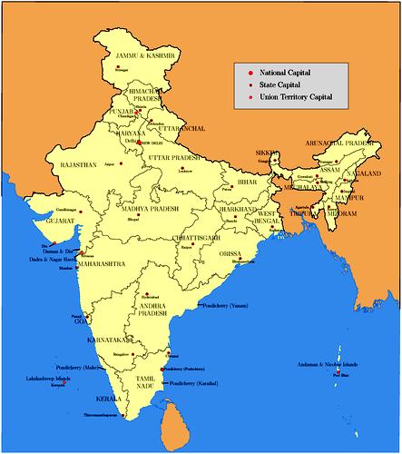 भारत की   मानचित्र