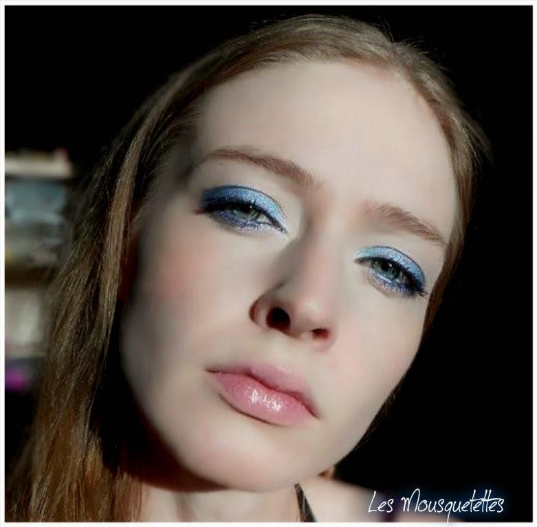 Rendu makeup bleu : BYS, Physicians Formula - Les Mousquetettes©