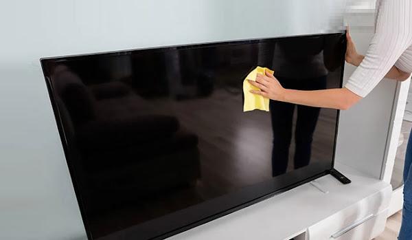طريقة تنظيف الشاشات المسطحة