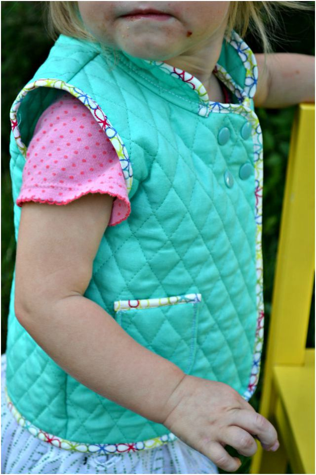 Sewing for the Girl: Quilted Vest