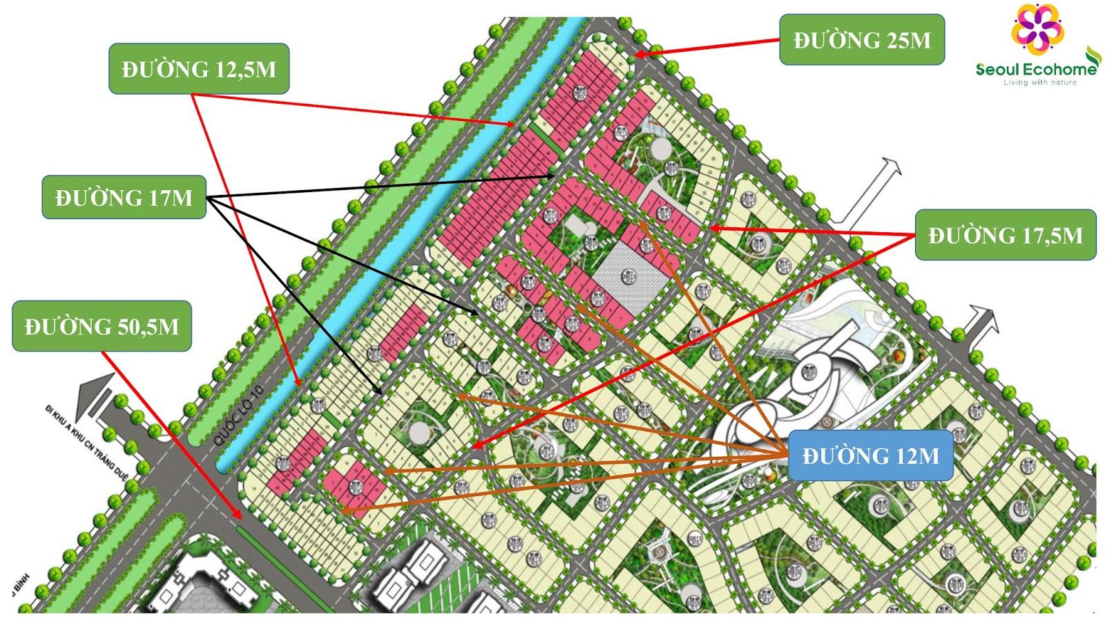 Mặt bằng chia lô khu đô thị Tràng Duệ, Hải Phòng