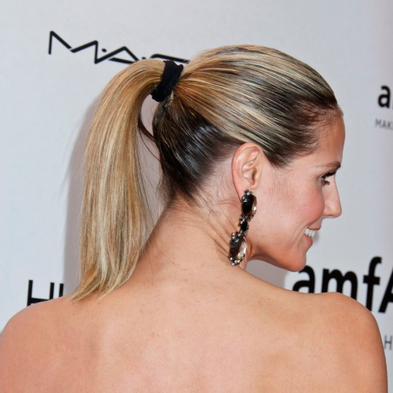 how to get heidi klum 39 s ponytail for less than 5. Black Bedroom Furniture Sets. Home Design Ideas
