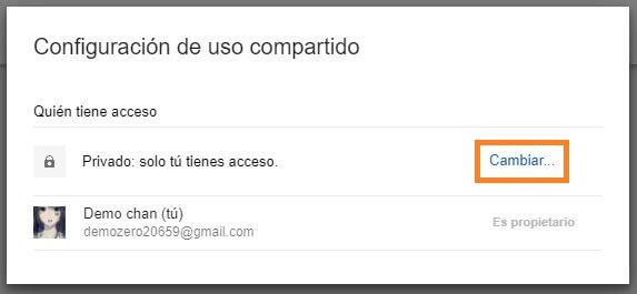 acceso carpeta google drive
