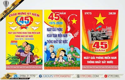 Pano dọc Kỷ niệm 45 năm giải phóng miền nam 30-4