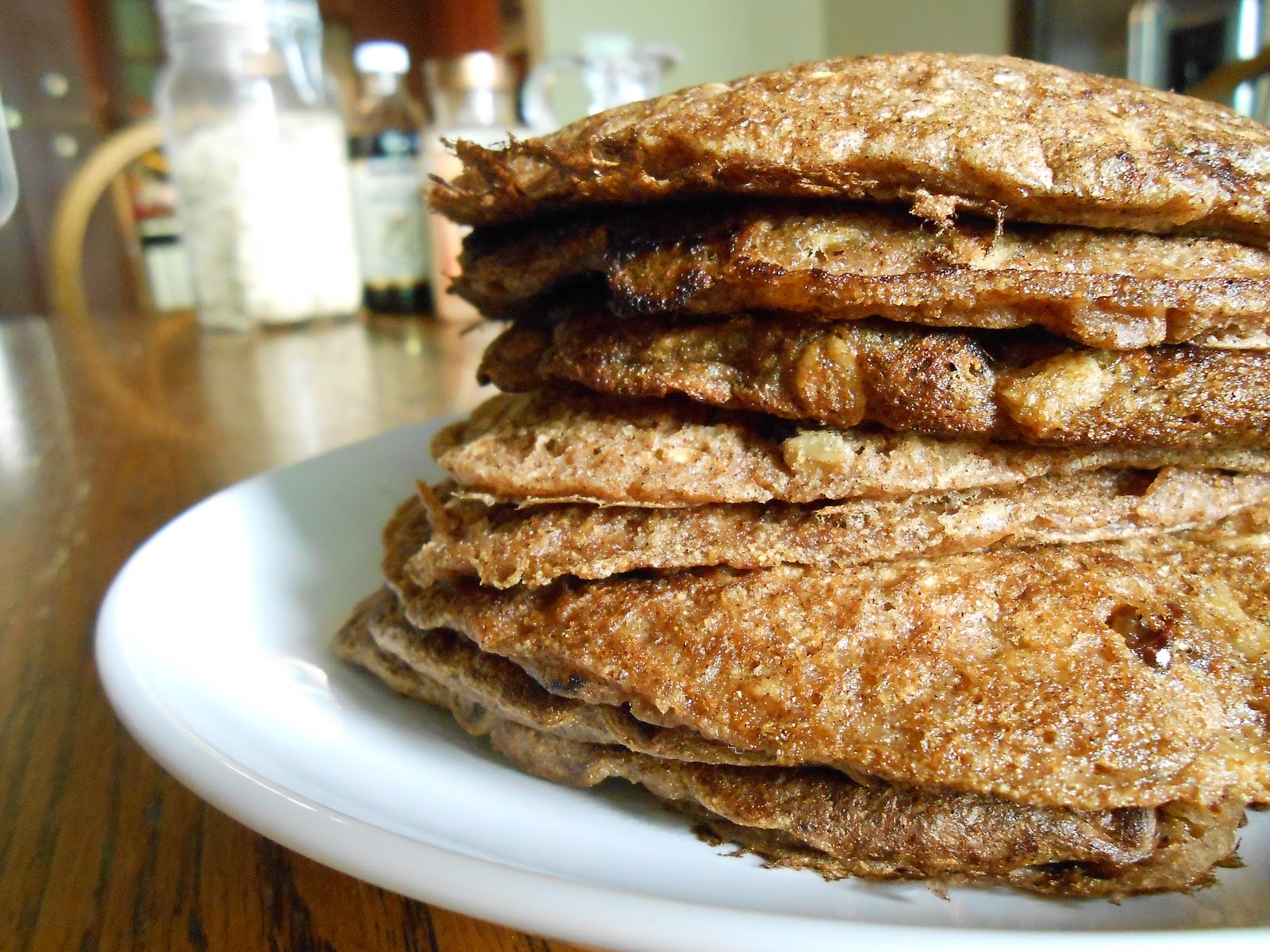 Oatmeal Cookie Pancakes w/ Cinnamon Maple Frosting - Flora Foodie