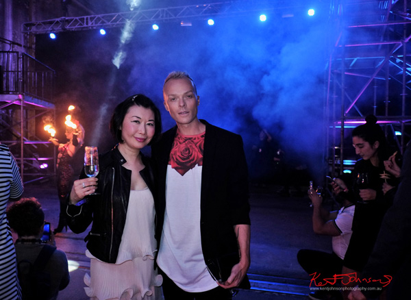 Vivienne Shui and Joshua Heath UE Boom 2 Launch at Carriageworks Sydney #PartyUp photographed by Kent Johnson for Street Fashion Sydney.