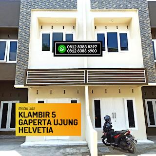 Fasad Rumah Murah Ready 2,5 Lantai Hanya 400 Jutaan Komplek Anissa Lala Klambir 5 Gaperta Ujung Helvetia Medan
