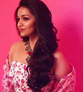 Keerthy Suresh in Pink Dress for LAMORE Magazine Cover Page Photo Shoot