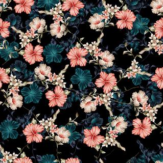 flower textile repeat  7055