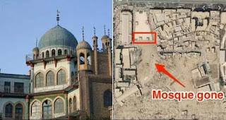 Ribuan Masjid di Xinjiang Dihancurkan, Termasuk Masjid Bersejarah Dibangun 1540: Jadi Lahan Parkir