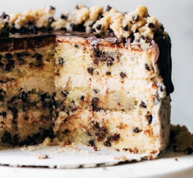 Cookie Dough Cake #cake #dessert