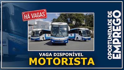 vaga para motorista de micro onibus