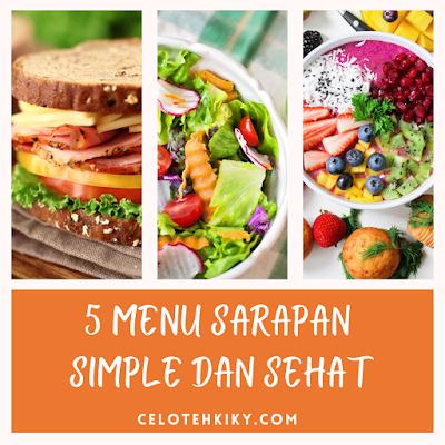 Sandwich, salad buah dan smoothies