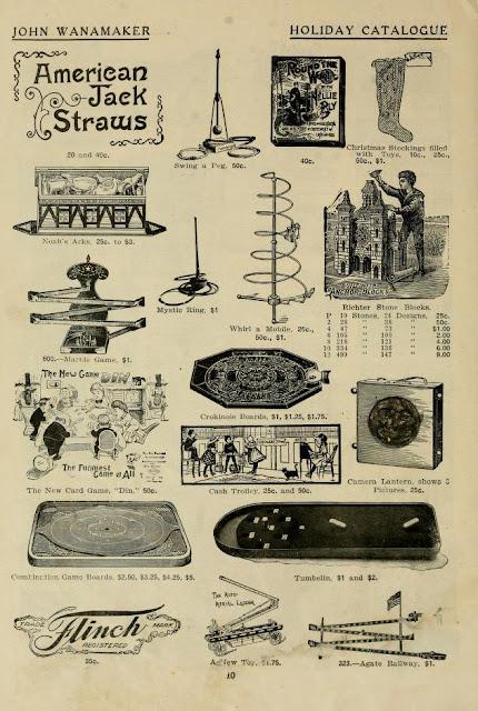 1905 Holiday Catalogue, John Wanamaker. Public Domain