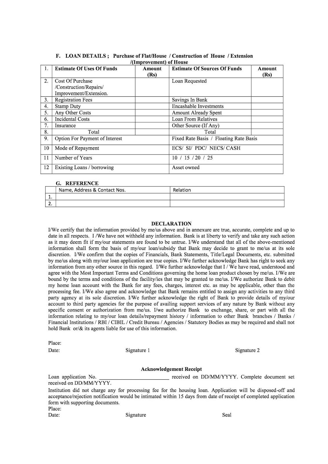 Pradhan Mantri Awas Yojana Application Form In Hindi Pdf