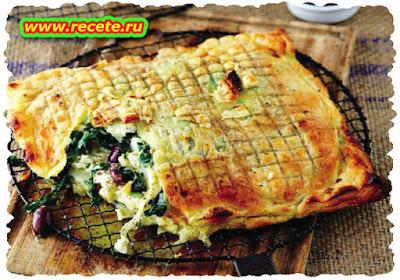 Potato and spinach pie