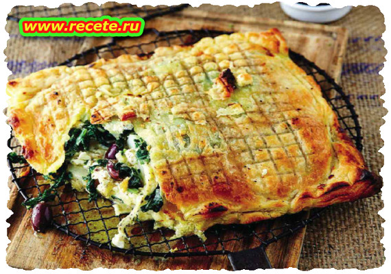 Potato and spinach pie