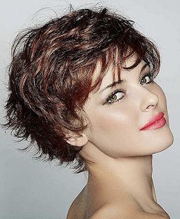 Undercut short curly haircut for women