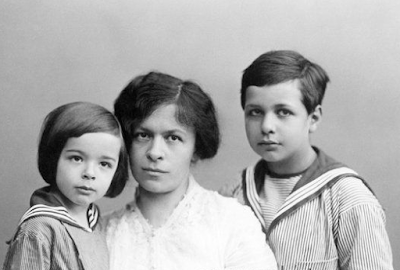 Eduard, Mileva Maric e Hans Einstein