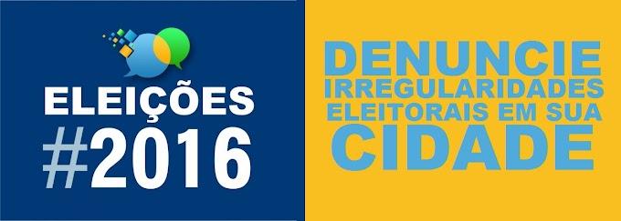 Denuncie irregularidades eleitorais em sua cidade
