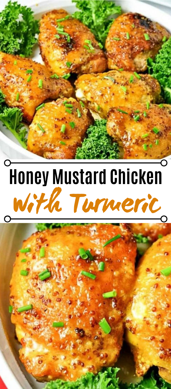 Honey Mustard Chicken with Turmeric #dinner #chicken