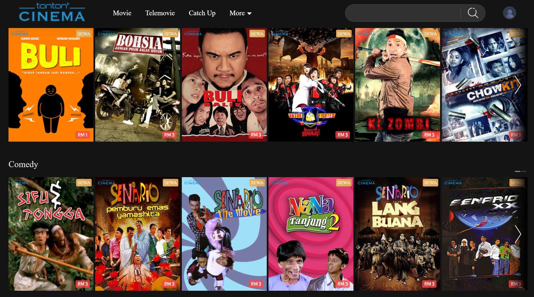 Promosi Terhad Serendah RM1 Untuk Sewa Filem Di Tonton Cinema