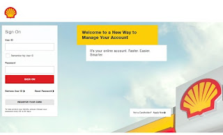 Shell Credit Card Account Online Login