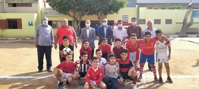 عبدالله يتابع مدرستي بحر يوسف والبشيهي بشرق الفيوم