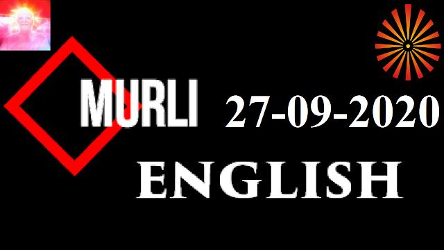 Brahma Kumaris Murli 27 September 2020 (ENGLISH)