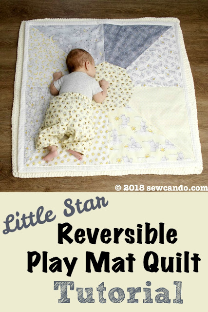 photo litte star reversible playmate quilt