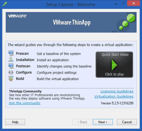 Screenshot VMware Thinapp Enterprise 5.2.6 Build 14449759 Full Version